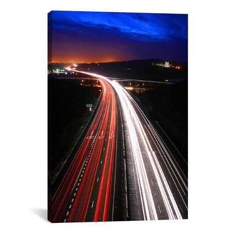 """Road Lights // Unknown Artist (26""""W x 18""""H x 0.75""""D)"""