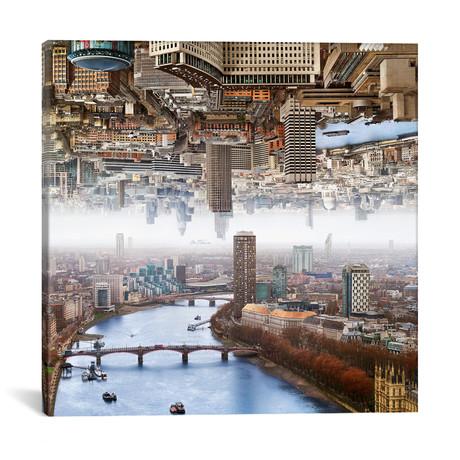 """London // Double Landscape // Ben Heine (18""""W x 18""""H x 0.75""""D)"""