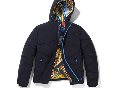 VRY WARM Jackets For All Elements Graffiti Lined Hooded Jacket // Navy (S) by Touch Of Modern - Denver Outlet