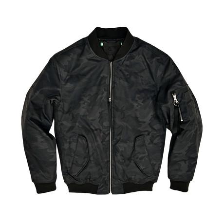 Bryant Camo Bomber Jacket // Olive (S)