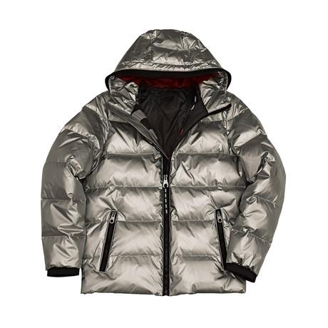 Phoenix Down Filled Hooded Jacket // Silver (S)