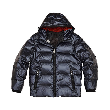 Phoenix Down Filled Hooded Jacket // Midnight (S)
