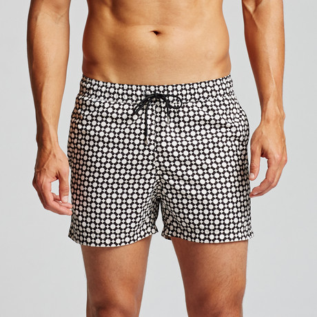Graphic Nantucket Trunk // Black + Ivory (S)