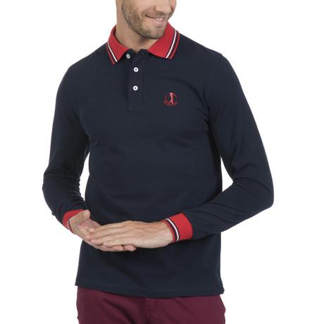 Cap Long-Sleeve Polo // Navy (S)