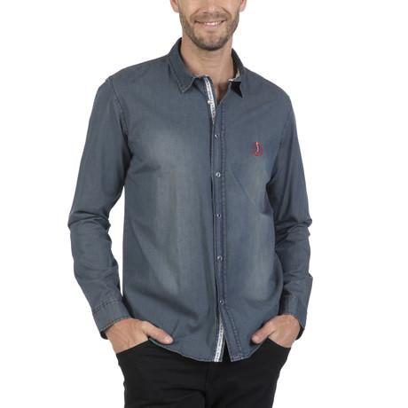 Pata Button Up Shirt // Navy (S)