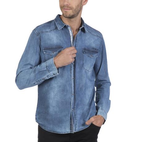 Pata Button-Up Shirt // Blue (S)