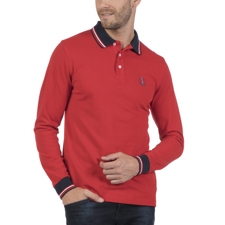 Cap Long-Sleeve Polo // Red (S)