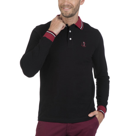 Cap Long-Sleeve Polo // Black (S)