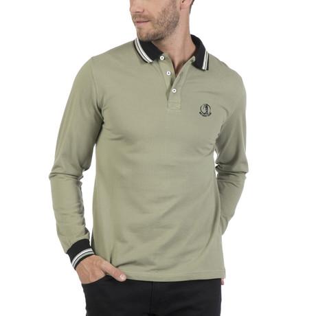 Cap Long-Sleeve Polo // Light Khaki (S)