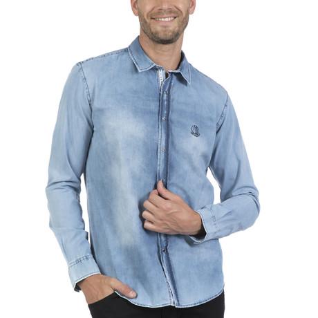 Pata Button Up Shirt // Light Blue (S)
