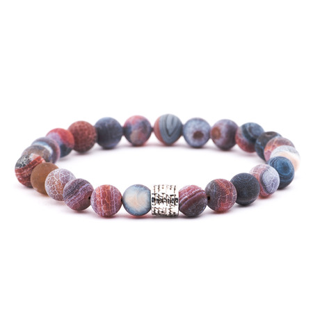 Gradient Stone Bracelet // Blue + Red + Purple