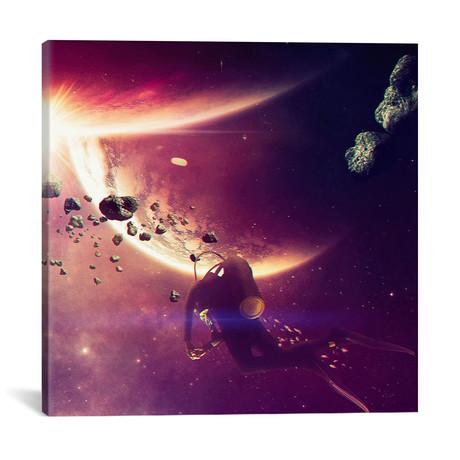 """AstroDiver // Evgenij Soloviev (18""""W x 18""""H x 0.75""""D)"""