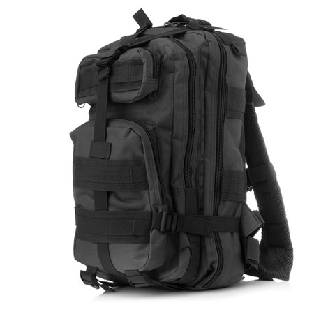 Something Tactical Military Backpack // Charcoal