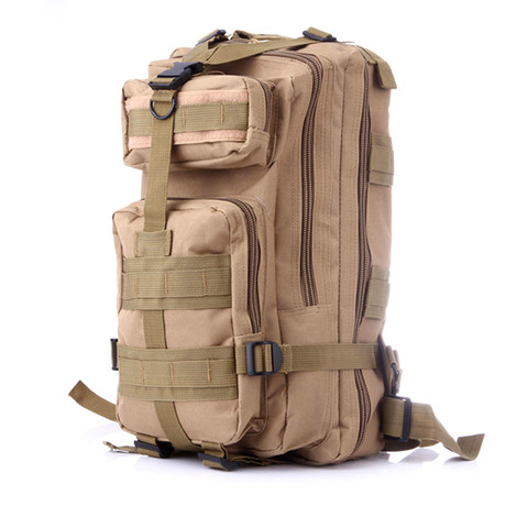 Something Tactical Military Backpack // Beige