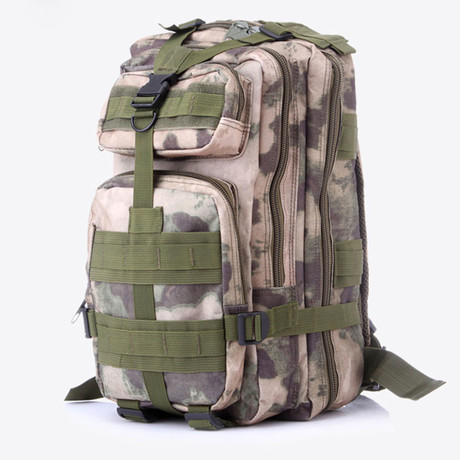 Something Tactical Military Backpack // Green Camo