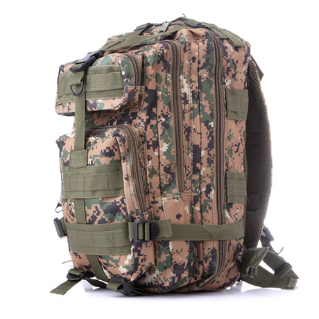 Tactical Military Backpack // Green Camo