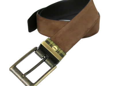 Photo of Boconi Premium Italian Leather Belts Leon Reversible Belt // Camel Nubuck + Brown Leather (38) by Touch Of Modern