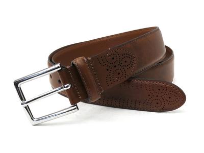 Photo of Boconi Premium Italian Leather Belts Davis Matte Finish Leather Belt // Cognac (38) by Touch Of Modern