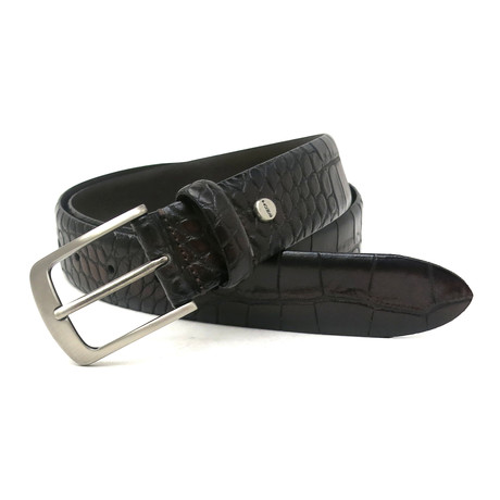 Wonder Moc-Croco Dress Belt // Brown (32)