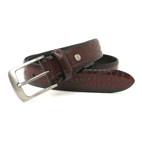 Wonder Moc-Croco Dress Belt // Cognac (32)
