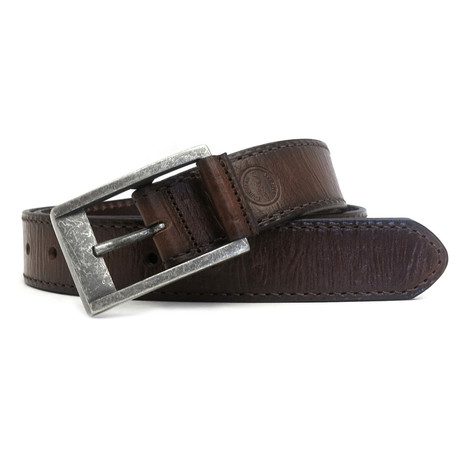 Sambora Leather Casual Jean Belt // Chestnut (32)