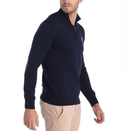 Quarter Zip Pullover // Navy (XS)