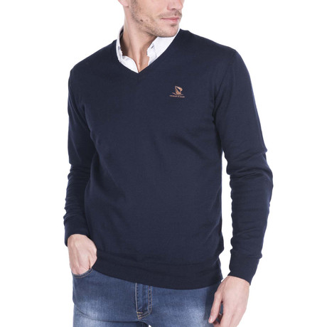 V-Neck Sweater // Navy (XS)