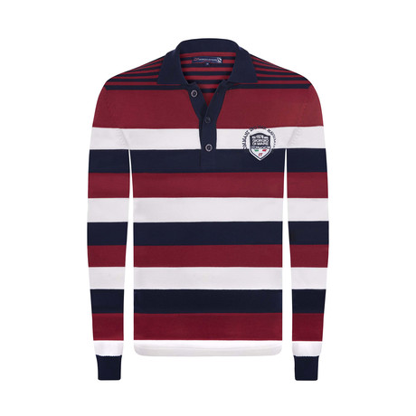 Striped Pullover // Navy + Bordeaux + Ecru (XS)