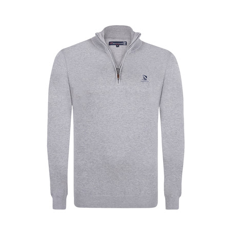 Quarter Zip Pullover // Gray (XS)