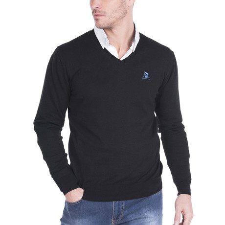 V-Neck Sweater // Black (XS)