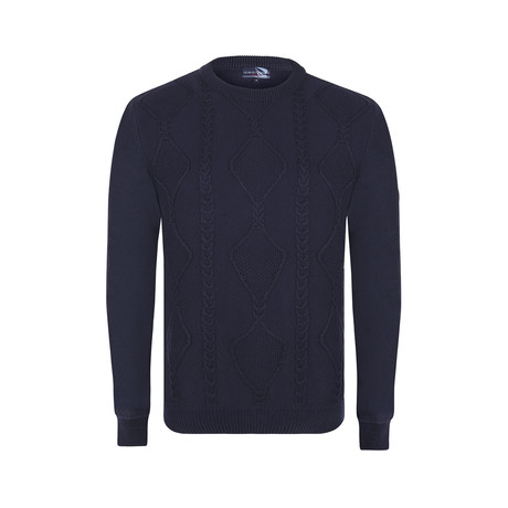 Knit Pullover // Navy (XS)