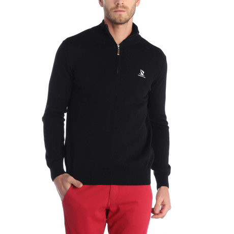 Quarter Zip Pullover // Black (XS)