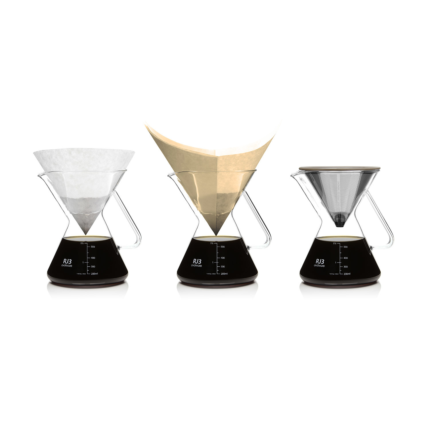 RJ3 Pour Over Coffee Maker + Filter - Ovalware - Touch of Modern