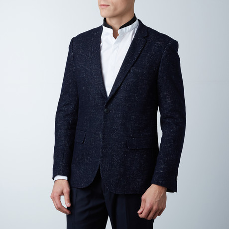 Yuron Casual Wool Blazer // Loud Blue (Euro: 44)