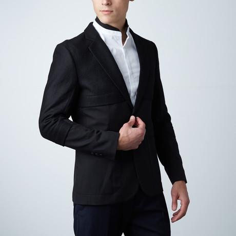 Castor Super Slim Fit Blazer // Black (Euro: 44)
