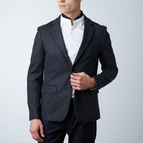 Leemon Casual Slim Fit Blazer // Dark Melange (Euro: 44)