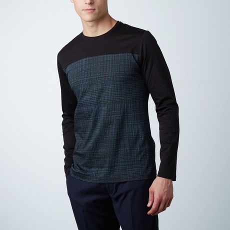 Nicolai L/S T-Shirt W/ Contrast // Black (XS)