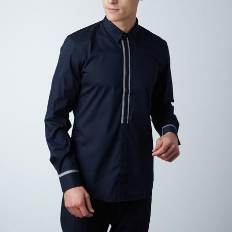 Nopa L/S Shirt W/ Contrast Insert // Loud Blue (Euro: 44)
