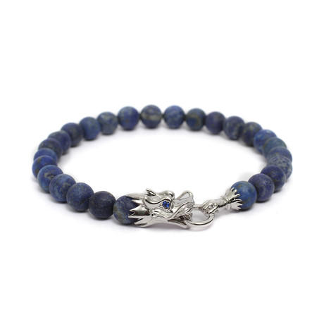 "The Siege of The Dragon Bracelet // Blue (6"")"
