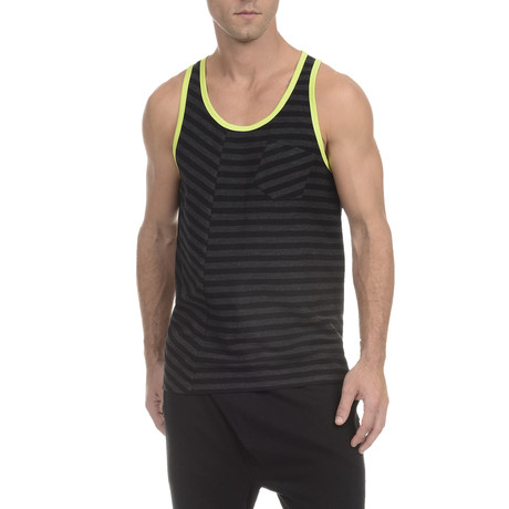 Fashion Tank Top // Black + Charcoal