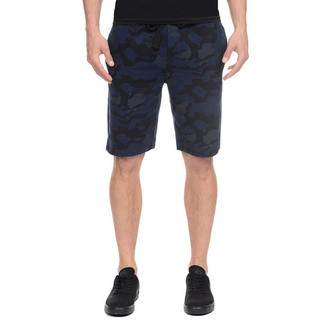 Core Terry Camo Short // Blue Camo
