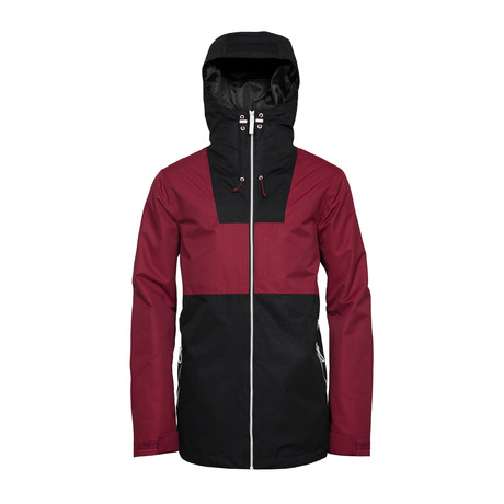 Block // Men's Snow Jacket // Burgundy (XS)