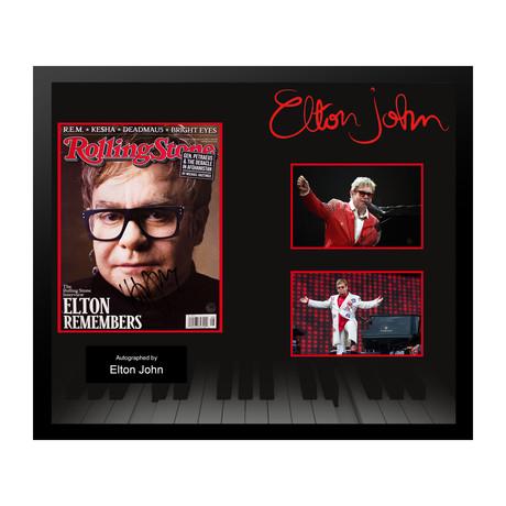 Elton John // Signed Rolling Stone Magazine