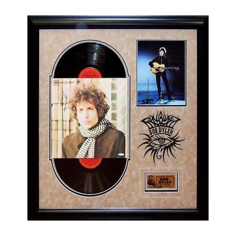Framed Autographed Album Collage Bob Dylan