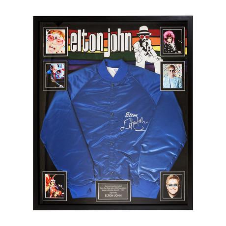 Framed Autographed Jacket Elton John