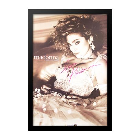 Framed Autographed Poster Madonna