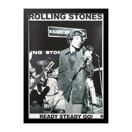 Autographed + Framed Poster // Mick Jagger // Poster II