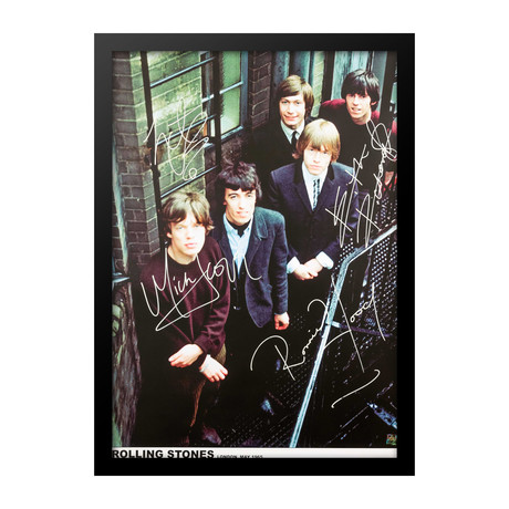 Autographed + Framed Poster // Rolling Stones // Poster II