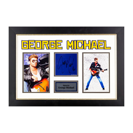 George Michael // Signed Collage