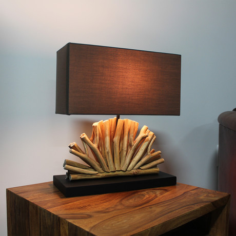 Natural Fan Lamp